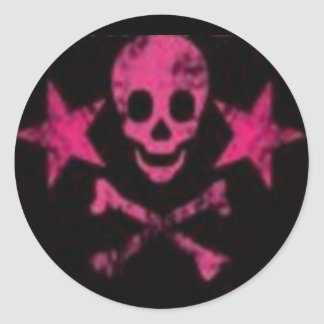 Skull&Cross Bones Pink Sticker