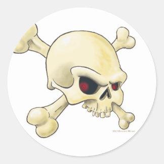 skull-cross-bones.png round sticker