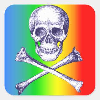 Skull & Cross Bones. Square Sticker