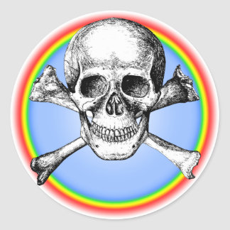 Skull & Cross Bones. Round Sticker