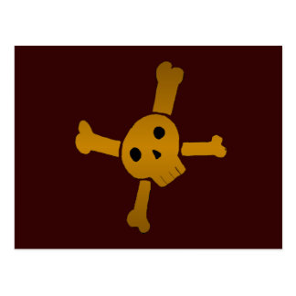 Skull Cross brown Postcard