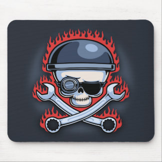 Skull & Cross Wrenches Mouse Pad