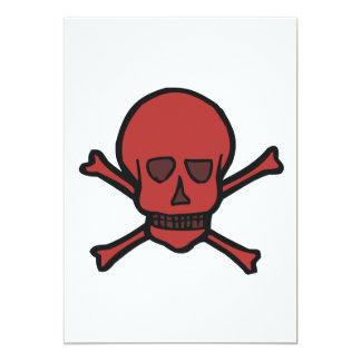 Skull & Crossbones 13 Cm X 18 Cm Invitation Card