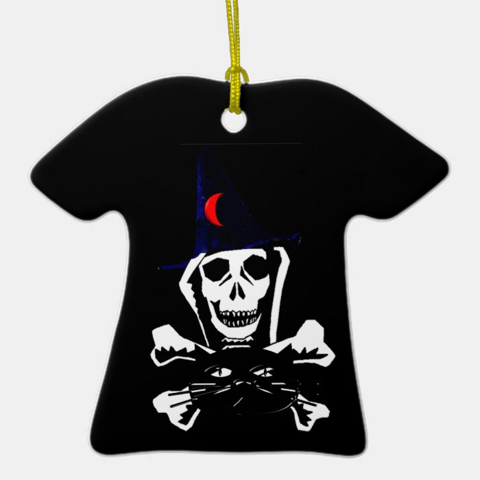 Skull, Crossbones, and Cat Ceramic T-Shirt Decoration