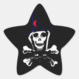 Skull, Crossbones, and Cat Star Stickers