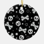 Skull & Crossbones (Black) Christmas Ornaments