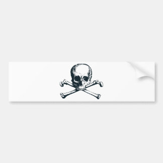 skull crossbones bumper sticker