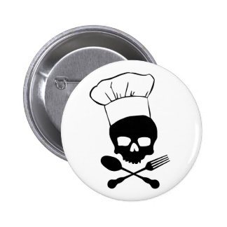 Skull & Crossbones Chef 6 Cm Round Badge