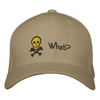 Skull & Crossbones Customizable Embroidery Hat Embroidered Hats