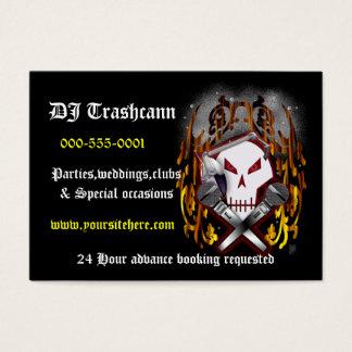 skull & crossbones DJ Business Card