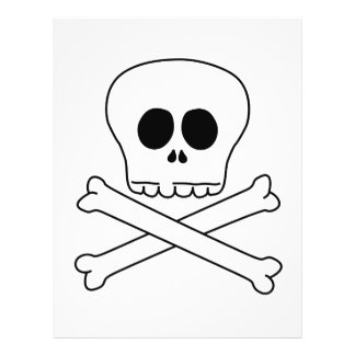 Skull Crossbones Personalized Flyer