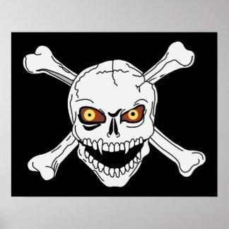Skull Crossbones - Framed Print