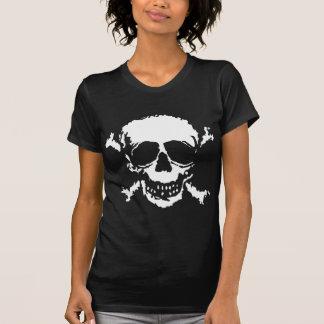Skull Crossbones Graphic Block Print T-Shirt