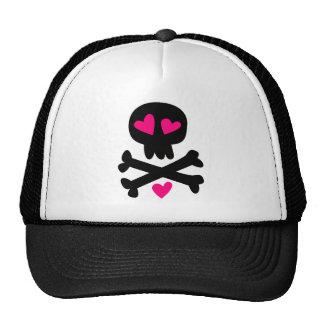 Skull crossbones Halloween Mesh Hat