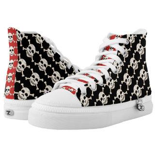 Skull & Crossbones High Top Sneakers