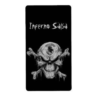 Skull&Crossbones Homemade Salsa Label Shipping Label