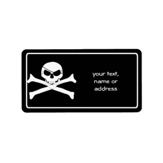 Skull & Crossbones - Jolly Roger Address Label