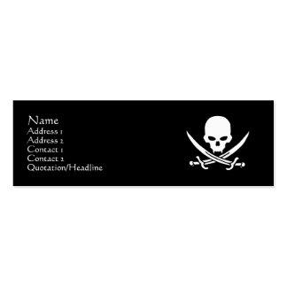Skull & Crossbones Pack Of Skinny Business Cards