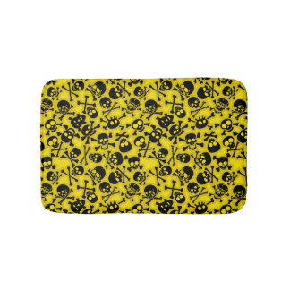 Skull & Crossbones Pattern Bath Mat