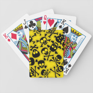 Skull & Crossbones Pattern Bicycle Playing Cards