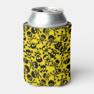 Skull & Crossbones Pattern Can Cooler
