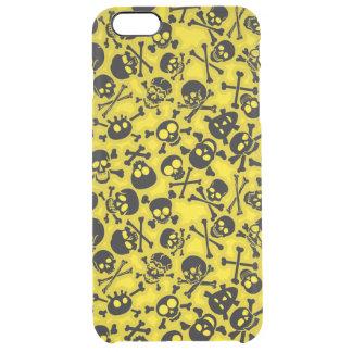 Skull & Crossbones Pattern Clear iPhone 6 Plus Case