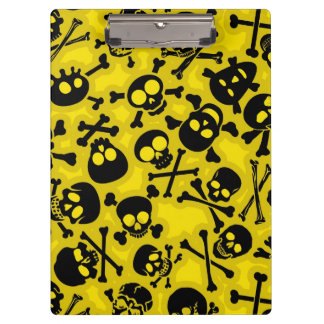 Skull & Crossbones Pattern Clipboard