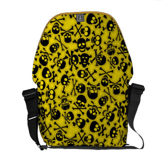 Skull & Crossbones Pattern Courier Bag