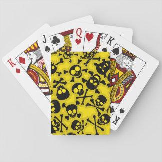 Skull & Crossbones Pattern Playing Cards