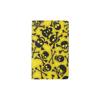Skull & Crossbones Pattern Pocket Moleskine Notebook