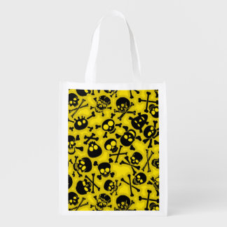 Skull & Crossbones Pattern Reusable Grocery Bag