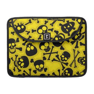 Skull & Crossbones Pattern Sleeve For MacBook Pro