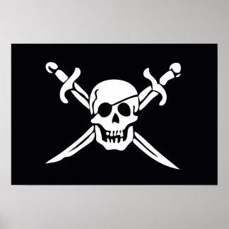 Skull & Crossbones Pirate Flag Poster