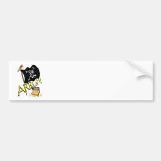 Skull & Crossbones Pirate Flag & Treasure Bumper Sticker