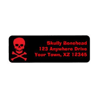 Skull & Crossbones Return Address Label