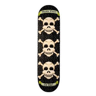Skull & Crossbones Skateboard Deck