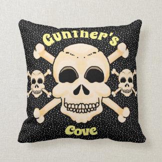 Skull & Crossbones Square Pillow