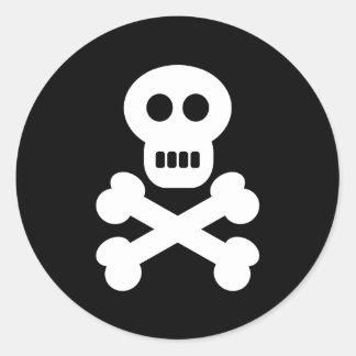 Skull Crossbones Stickers
