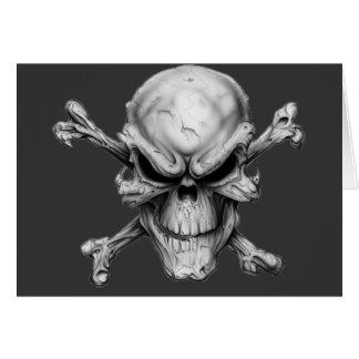 Skull Crossed Bones Cartao