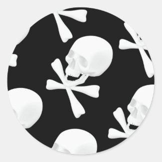 Skull & Crossed Bones Design Sticker