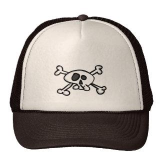 skull - crossed bones trucker hat
