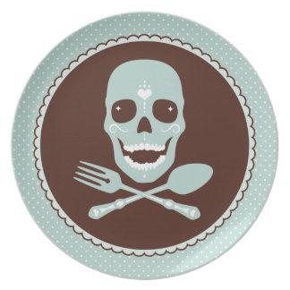 Skull & Crossed Flatware Plate