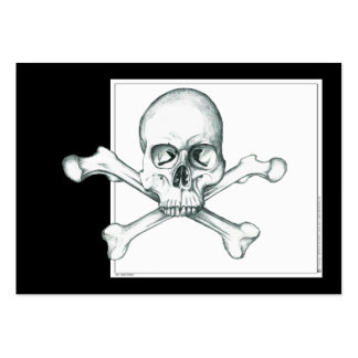 Skull & Crossed Thigh Bones Pack Of Chubby Business Cards