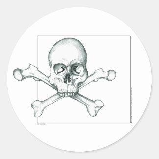 Skull & Crossed Thigh Bones Round Sticker