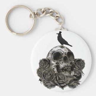 Skull & Crow Key Ring