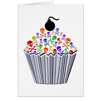 Skull Cupcake Card
