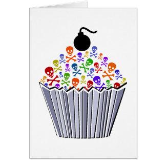 Skull Cupcake Greeting Card