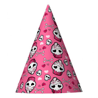 Skull Cupcake Madness Party Hat