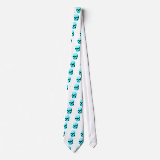 Skull Cyan The MUSEUM Zazzle Gifts Tie