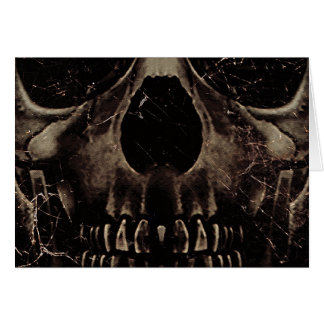 Skull Dark Poster Greeting Card